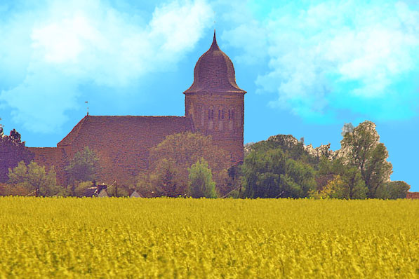 St. Jacobi Kirche Gingst im Jahr 2005