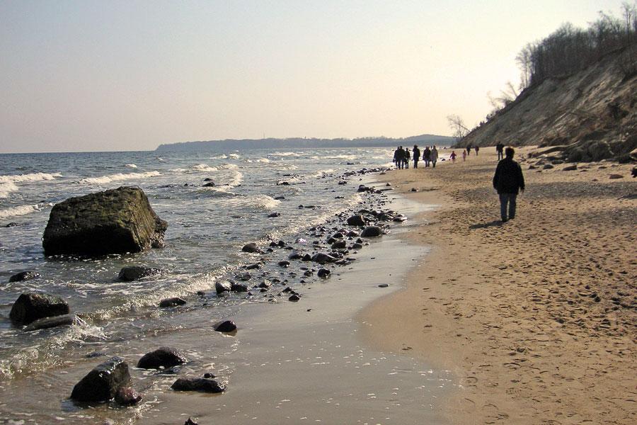 Rückweg am Strand ...