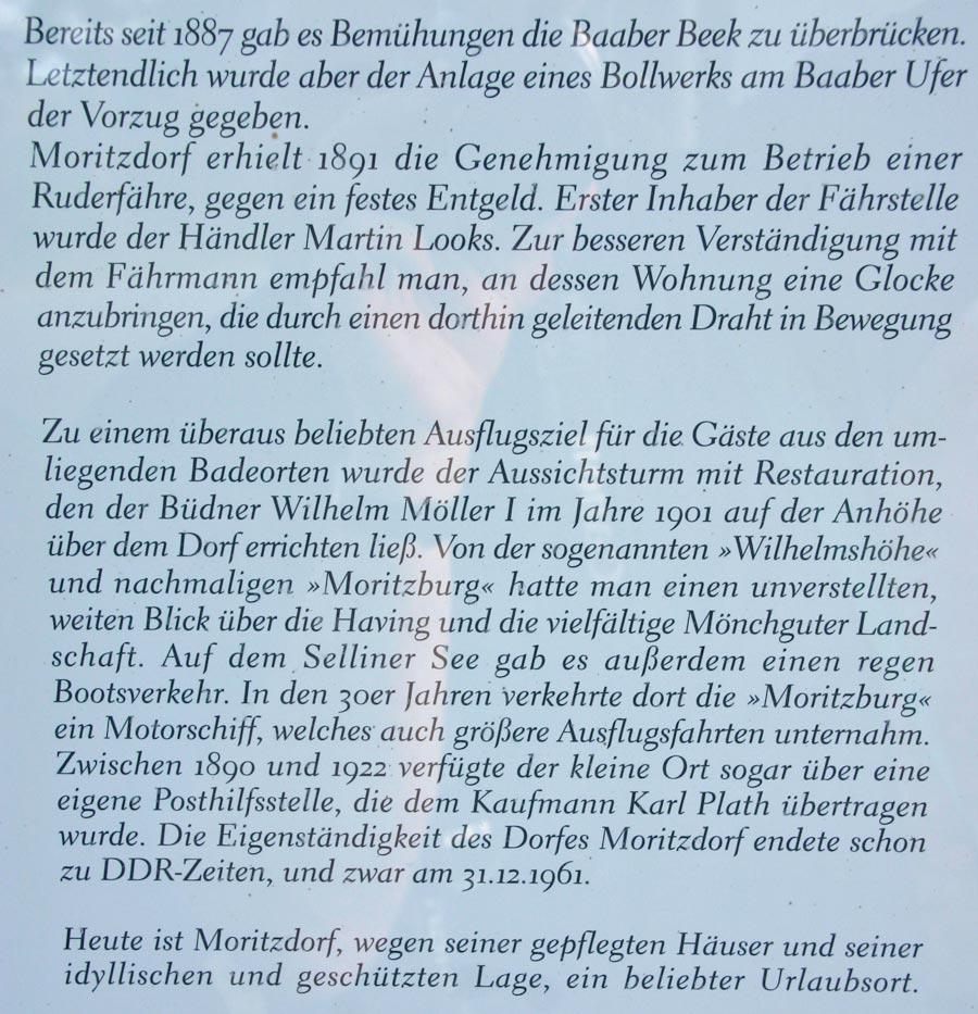 Moritzdorf Schild 2