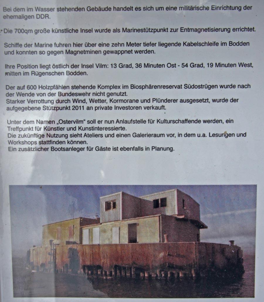 Hinweis zur Festung von Neu Reddevitz