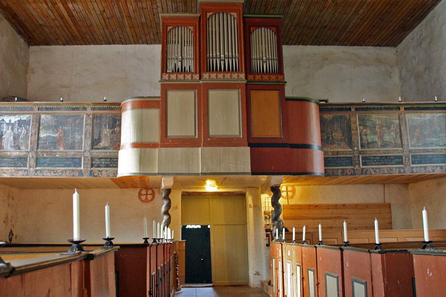 Orgel der St. Pauli Kirche Bobbin im Jahr 2005