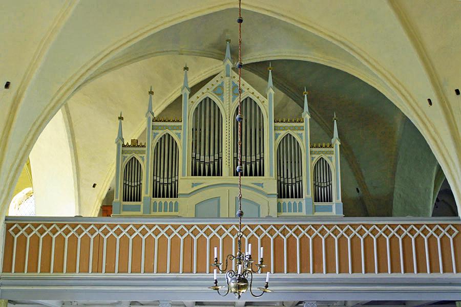 Orgel St. Katharinen Kirche in Trent im Jahr 2005