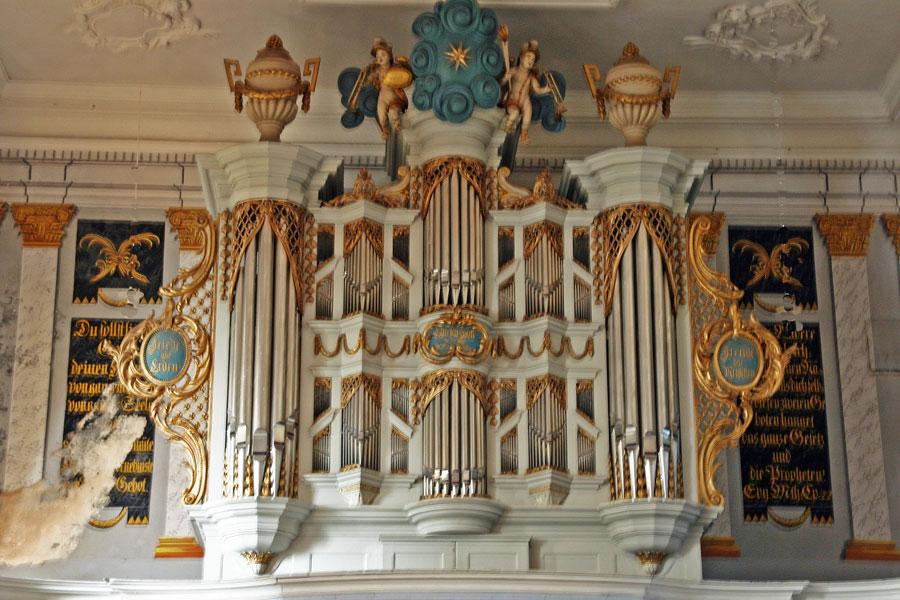 Orgel St. Jacobi Kirche Gingst im Jahr 2005