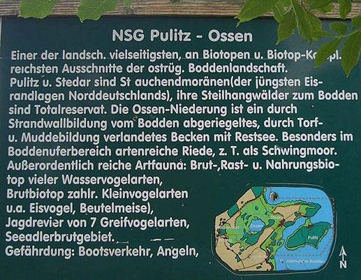 Hinweistafel NSG Pulitz