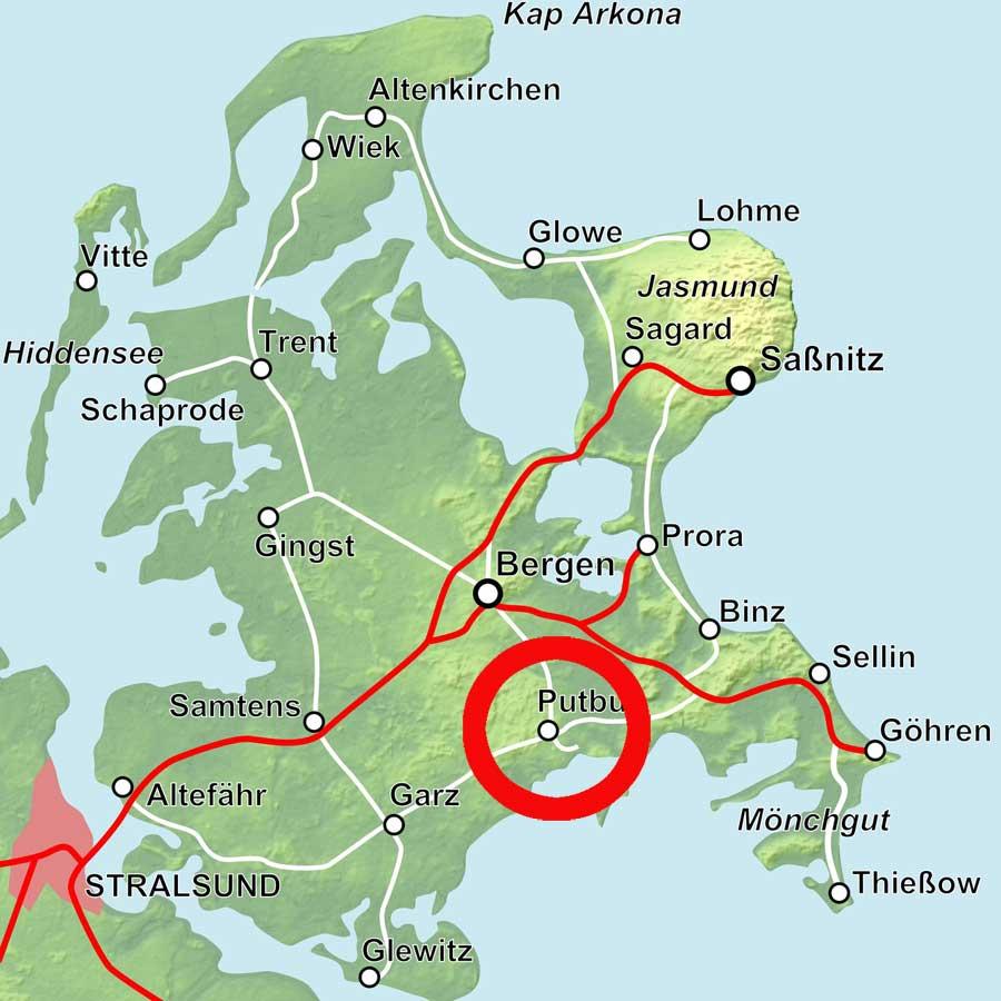 Karte Putbus