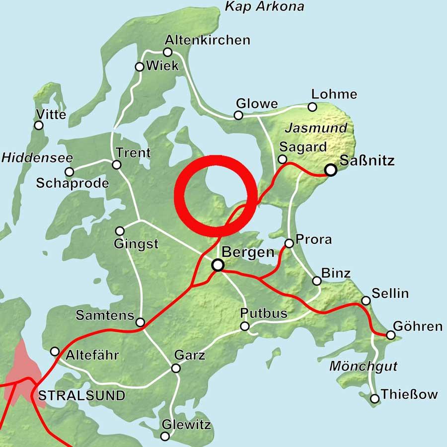 Karte Ralswiek