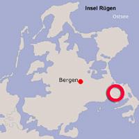 Karte Lage Lancken-Granitz