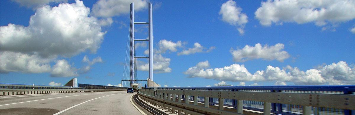 auf der Rügenbrücke
