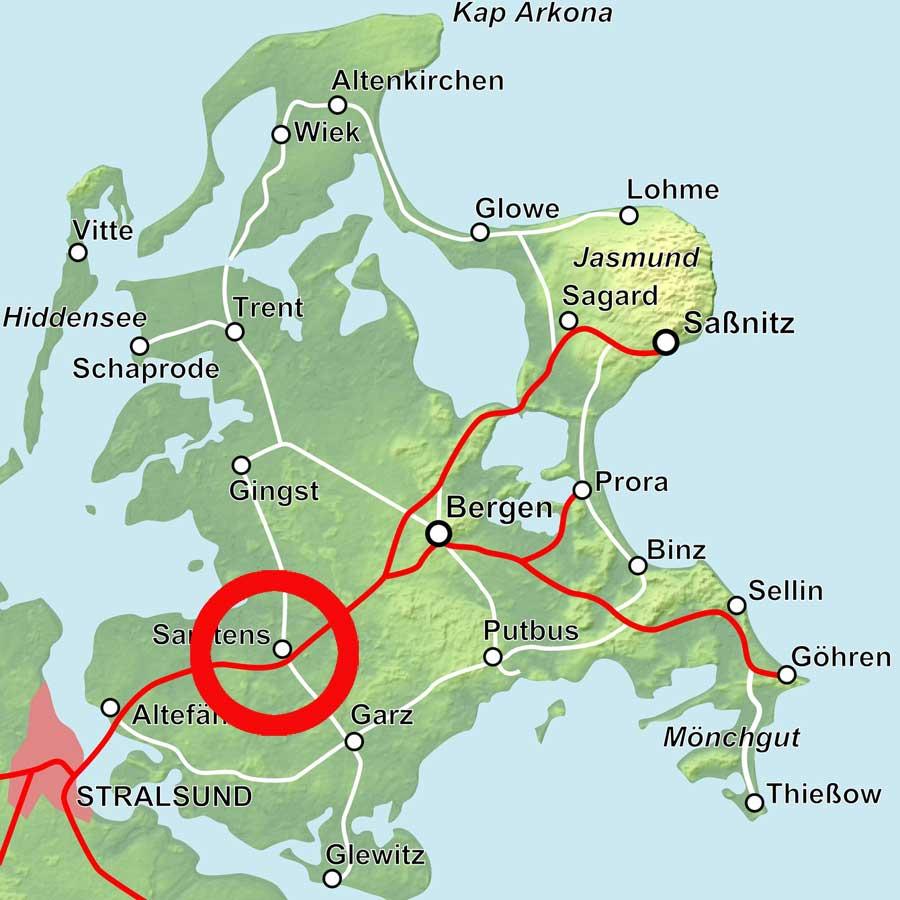 Karte Samtens