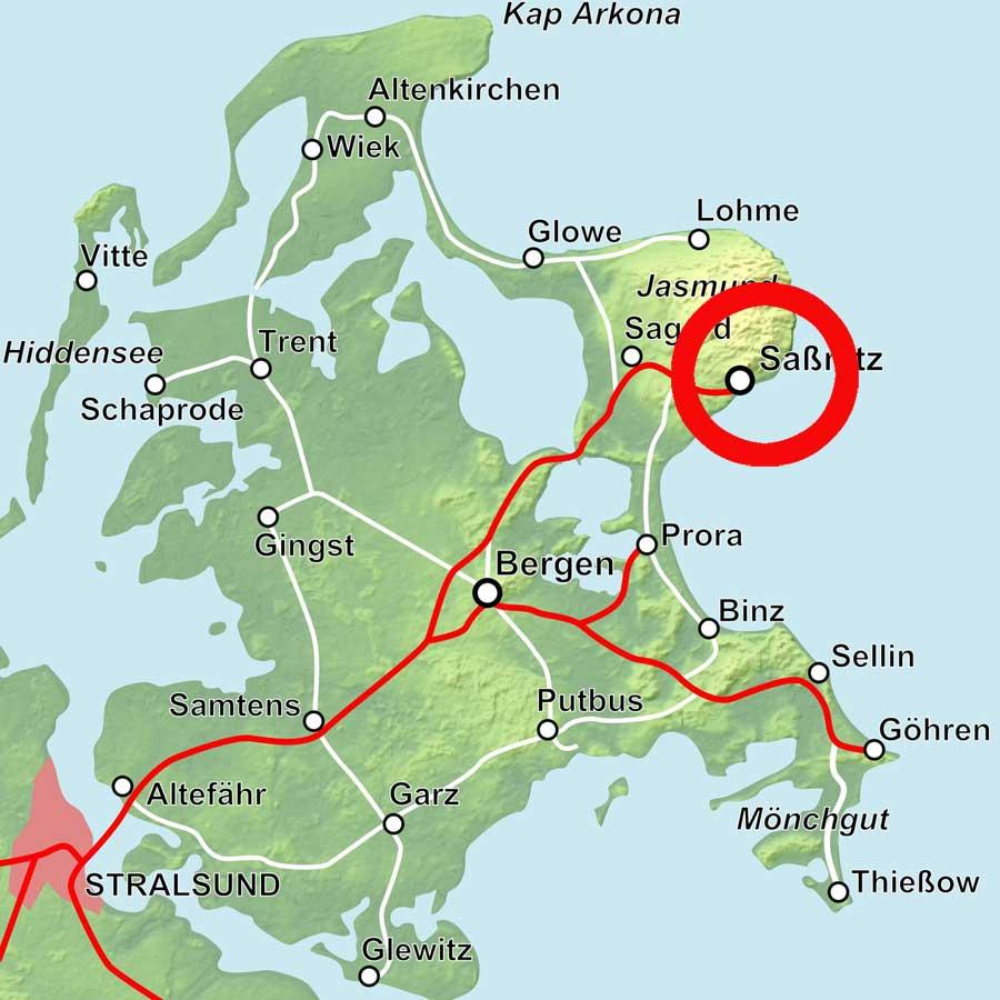 Karte Sassnitz