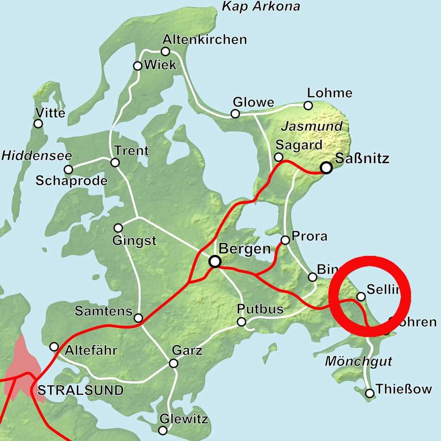 Karte Sellin