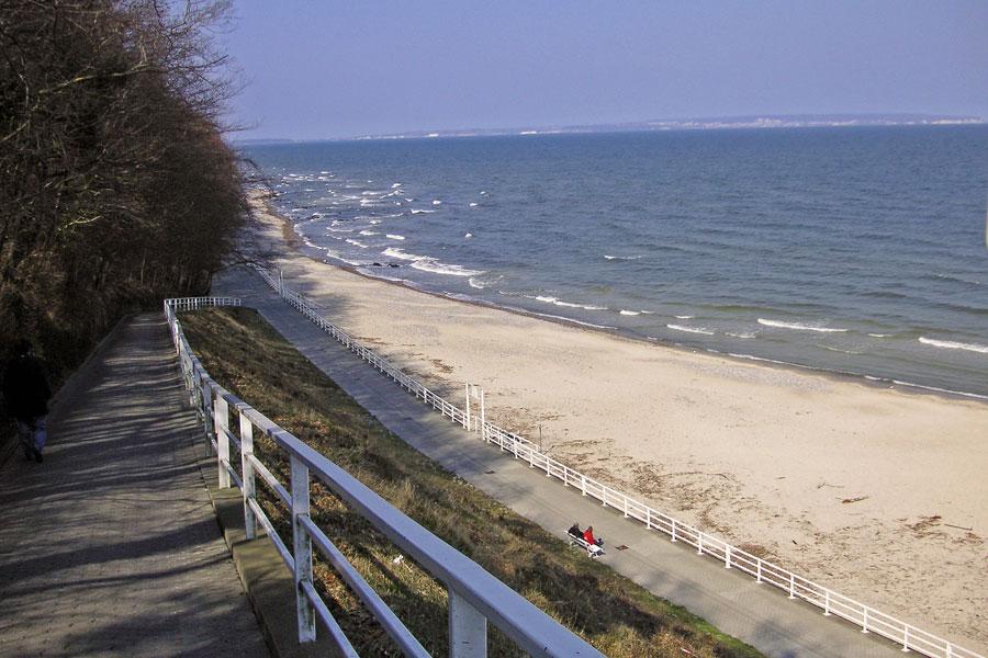 Selliner Strand links von der Seebrücke