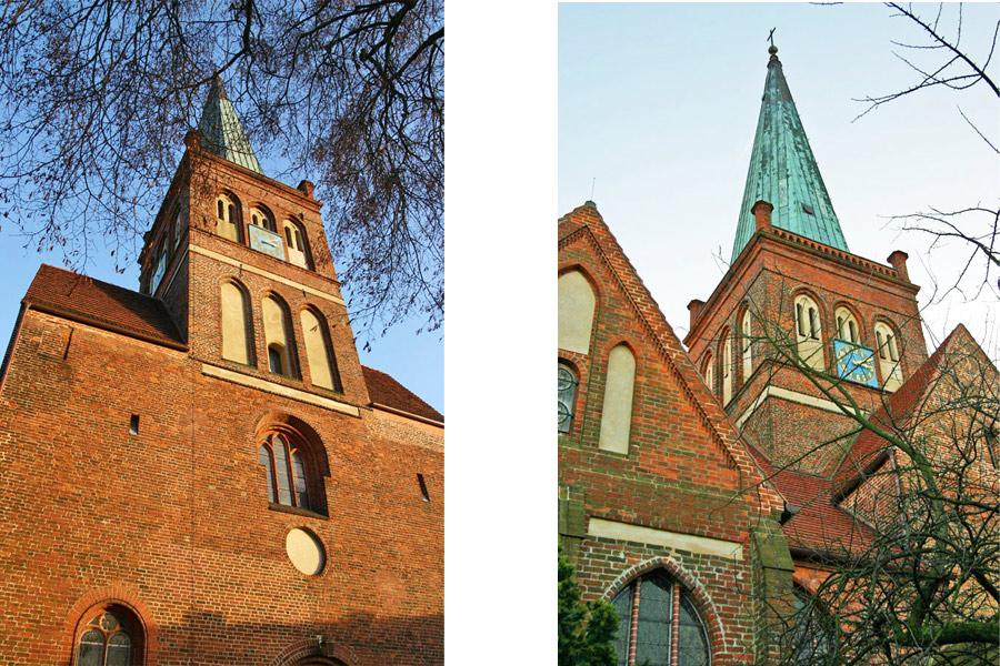 Türme der St. Marien Kirche Bergen 2005