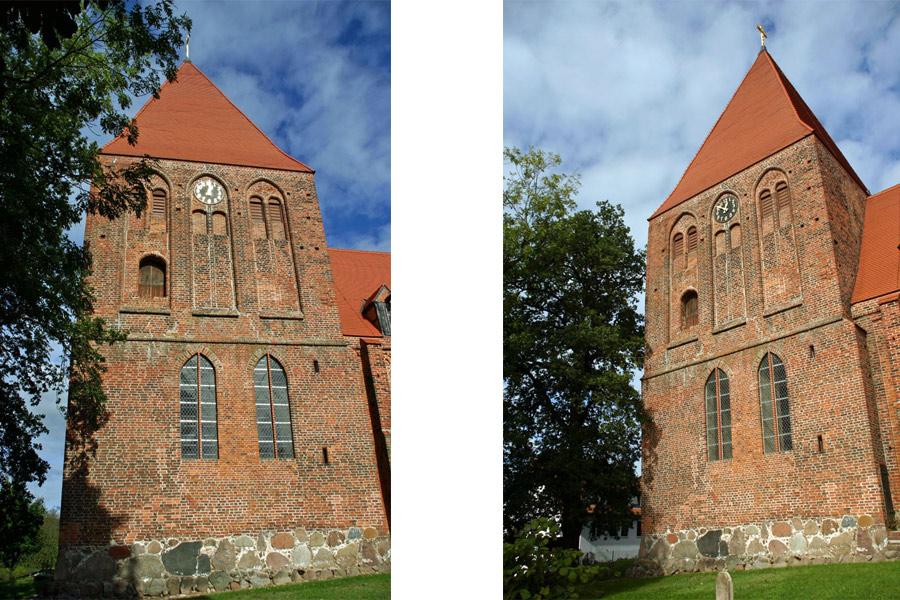 Kirchturm der St. Michael Kirche Sagard im Jahr 2005