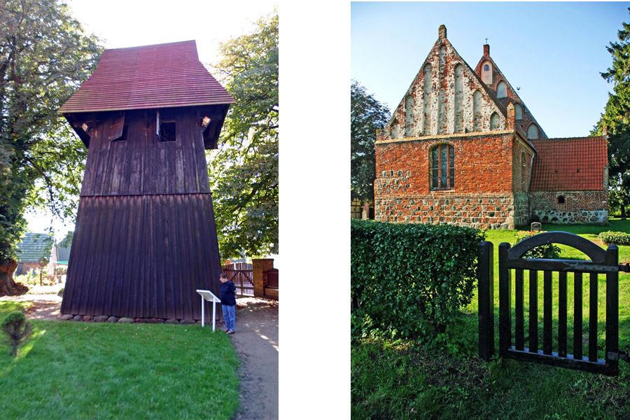 Turm und Garten St. Andreas Kirche Rappin im Jahr 2005