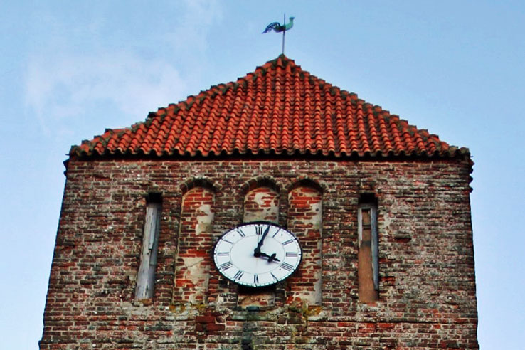Turmuhr St. Margarethen Kirche Patzig 2005