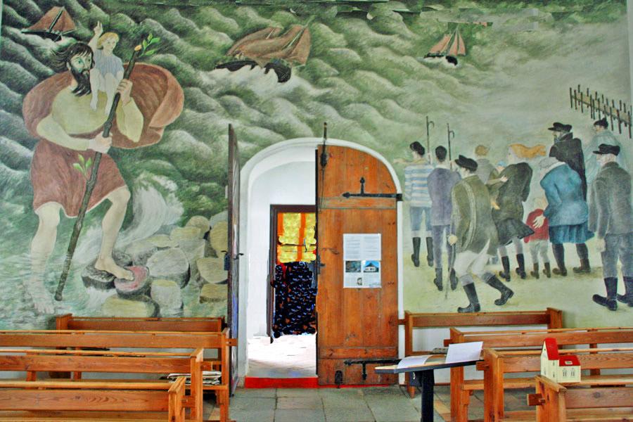 Wand der Kapelle Vitt im Jahr 2005