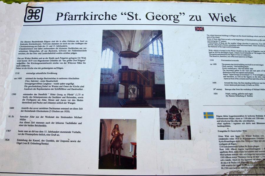 St. Georgkirche in Wiek im Jahr 2005