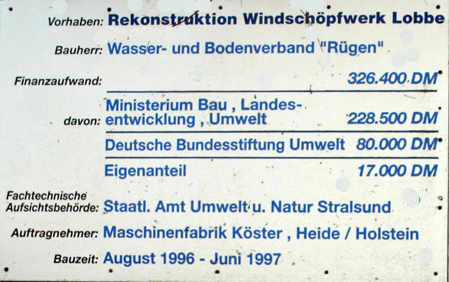 Vorhaben Rekonstruktion Windschöpfwerk Lobbe