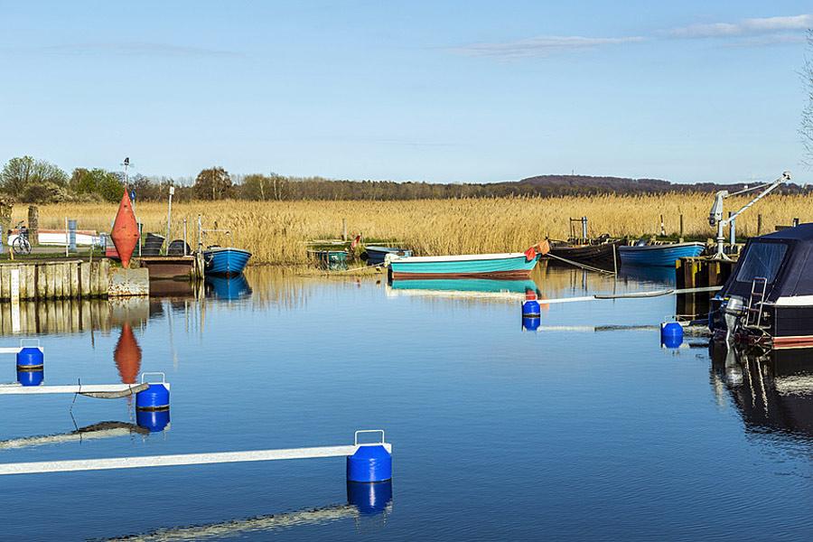 Hafen beim Achterwasser in Zempin