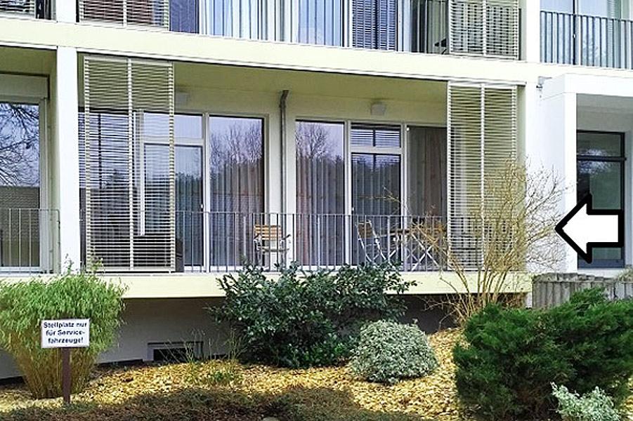 Lage der Wohnung 4 im Apartementhaus Südwind