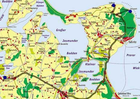 Karte Stubbenkammer