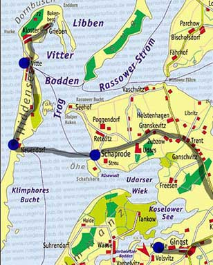 Karte Hiddensee