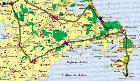 Karte Ostseebäder