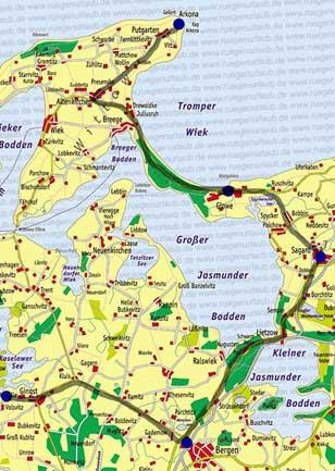 Karte Wittow Kap Arkona
