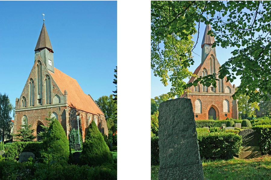 Front St. Johanneskirche Rambin im Jahr 2005