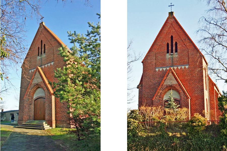Front der Herz-Jesu-Kirche Garz im Jahr 2005