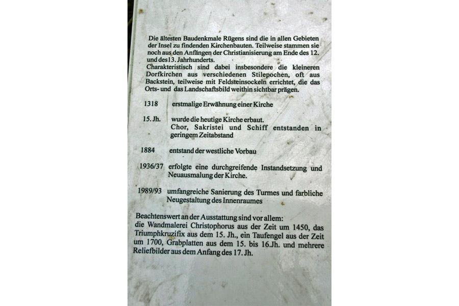 Geschichte der Kirche Samtens im Jahr 2005