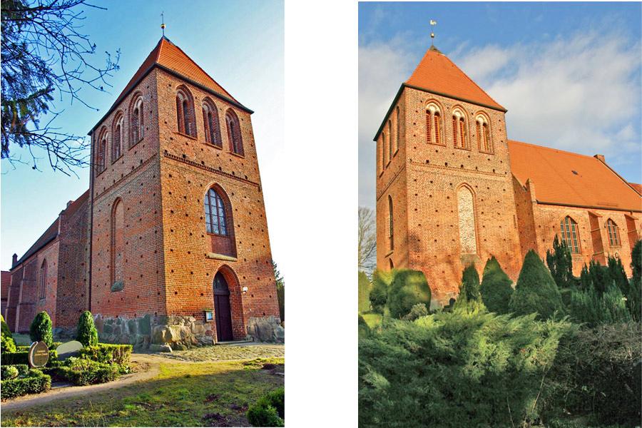 Turm der St. Petrikirche Garz im Jahr 2005