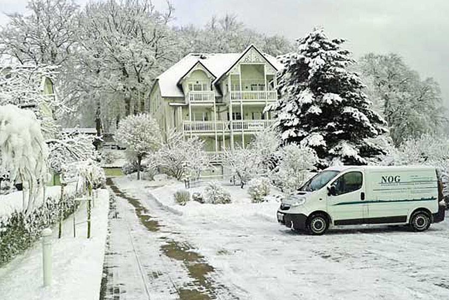 Parkresidenz Concordia in Sellin im Winter
