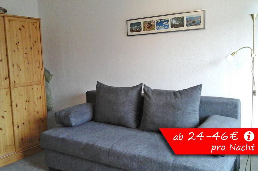 ferienpark gustow fewo b13 mit wohnschlafraum. Black Bedroom Furniture Sets. Home Design Ideas