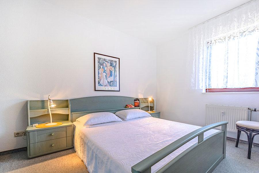Schlafzimmer Ferienwohnung W01